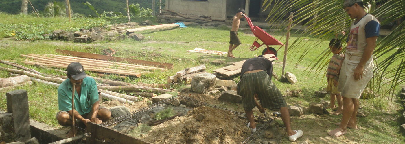 Construction in the village